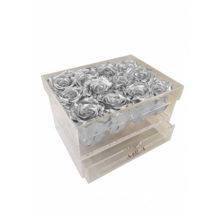 Mila Acrylic Medium Bijou - Metallic Silver