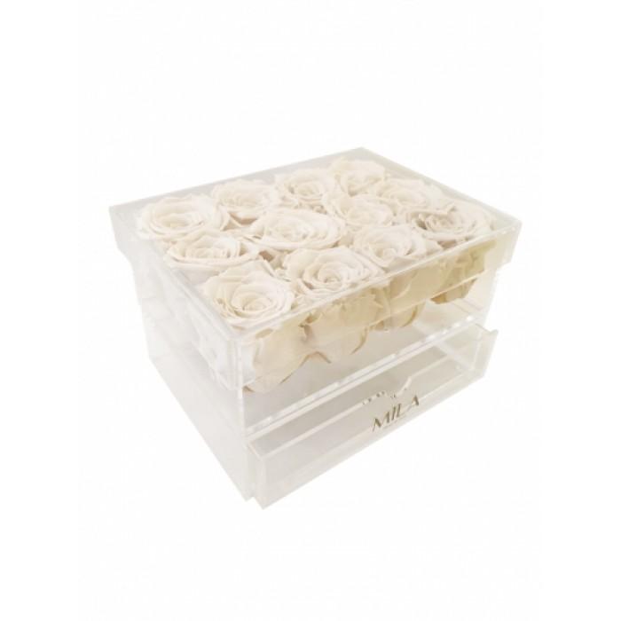 Mila Acrylic Medium Bijou - White Cream