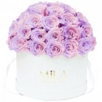 Mila-Roses-01549 Mila Classique Large Dome White - Vintage rose