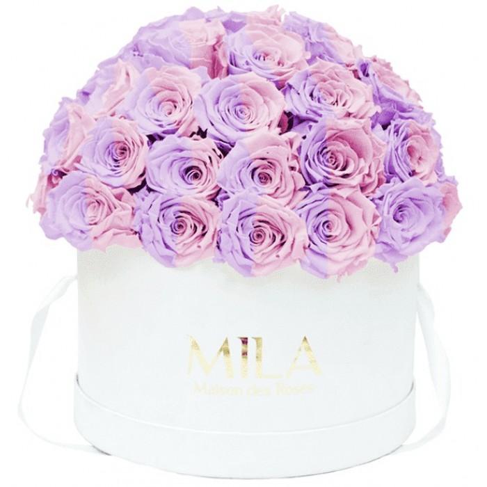 Mila Classique Large Dome White - Vintage rose