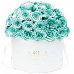 Mila-Roses-01558 Mila Classique Large Dome White - Aquamarine