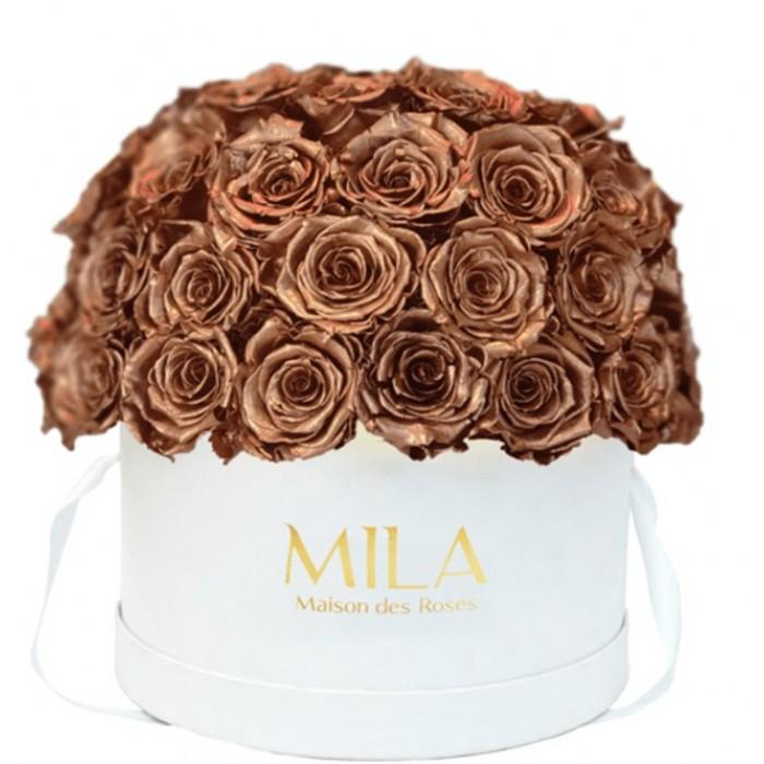 Mila Classique Large Dome White - Metallic Copper