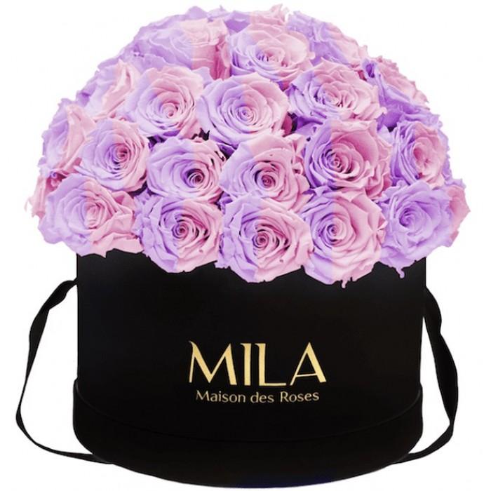 Mila Classique Large Dome Black - Vintage rose
