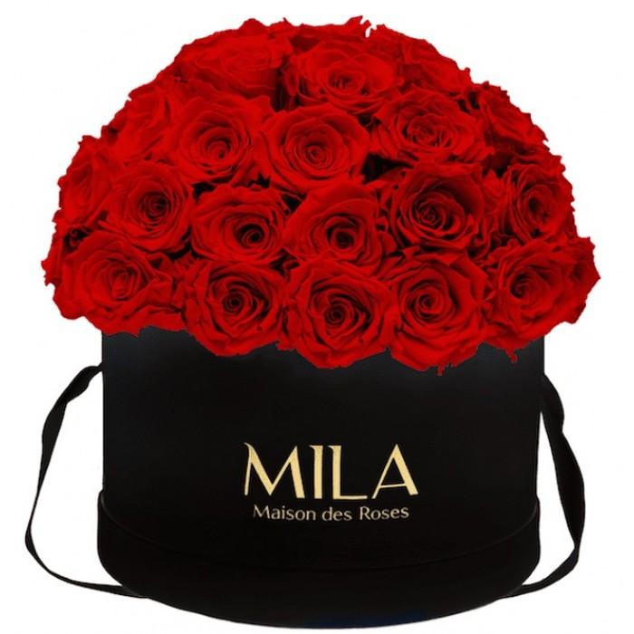 Mila Classique Large Dome Black - Rouge Amour