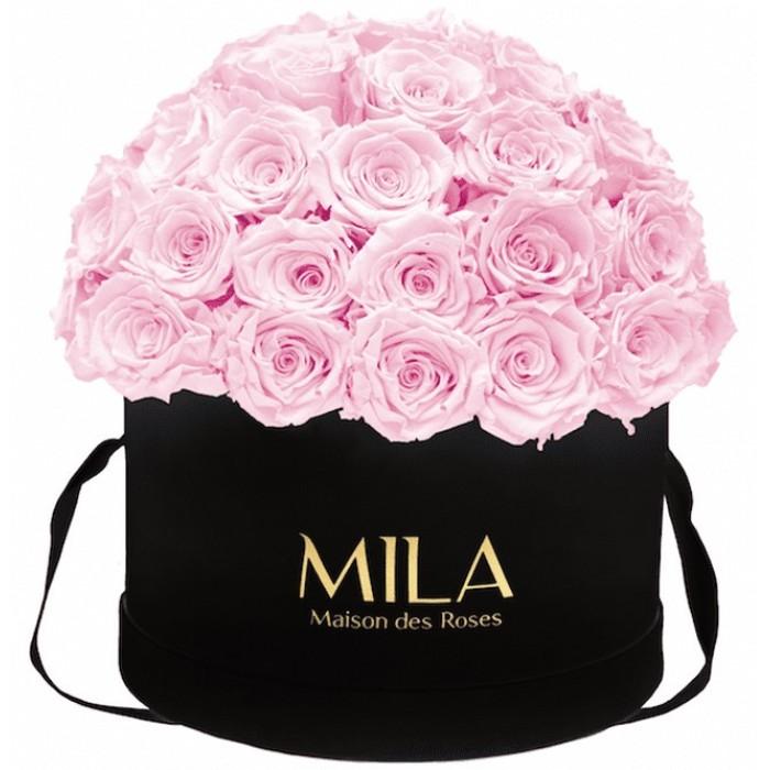 Mila Classique Large Dome Black - Pink Blush