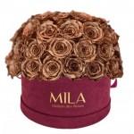 Mila-Roses-01615 Mila Classique Large Dome Burgundy - Metallic Copper