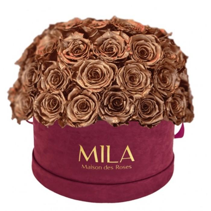 Mila Classique Large Dome Burgundy - Metallic Copper