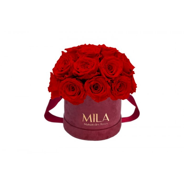 Mila Classique Small Dome Burgundy - Rouge Amour