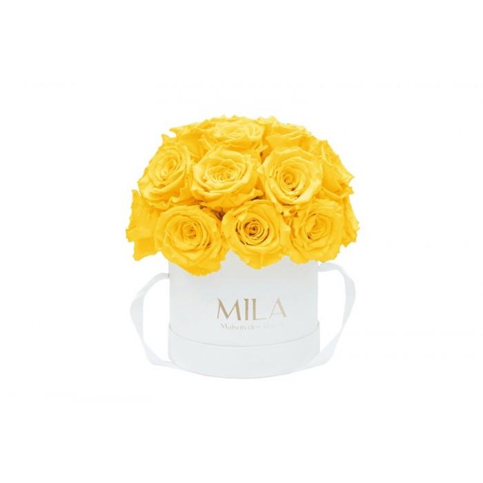 Mila Classique Small Dome White - Yellow Sunshine