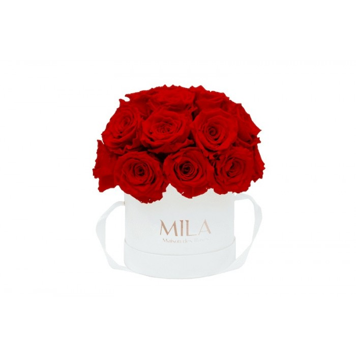 Mila Classique Small Dome White - Rouge Amour