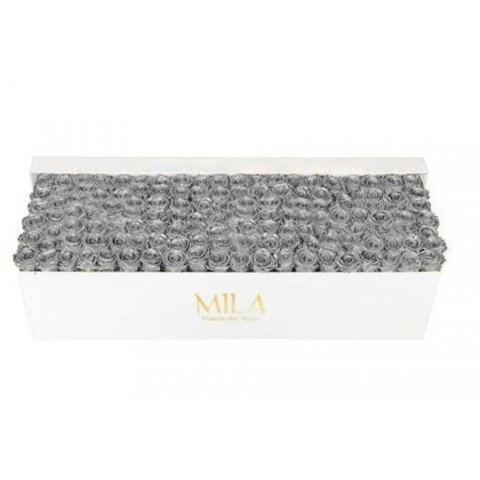 Mila Classic Royal White - Metallic Silver