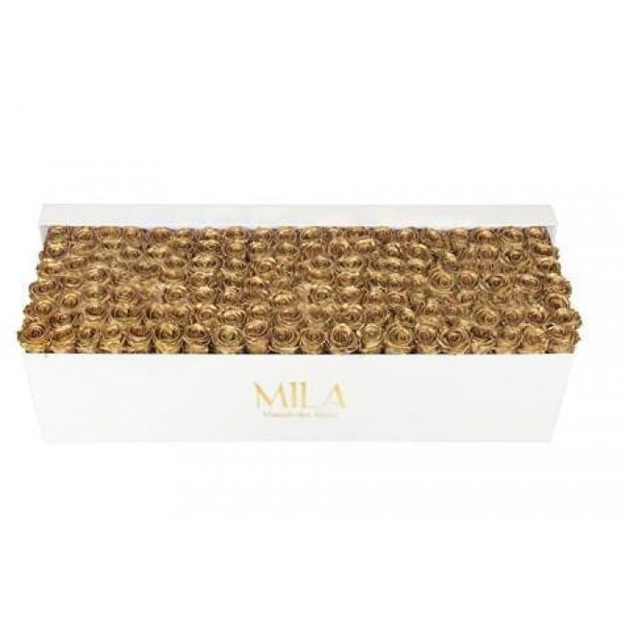 Mila Classic Royal White - Metallic Gold
